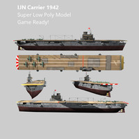 3d carrier ijn ww2 aircraft model