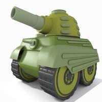 tank toon 3d max