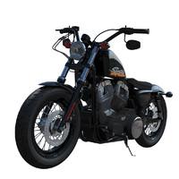 3d harley-davidson motorcyle model