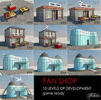 fan shop 10 levels 3d max