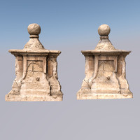 3d model scan old wall decoration