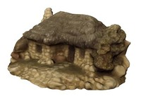 3d realistic medieval stone cottage