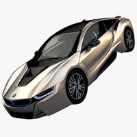 bmw i8 hd 2016 3d model