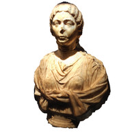 bust roman woman 3d model