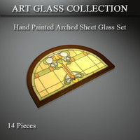 3d art glass model