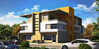 twin house 3d model