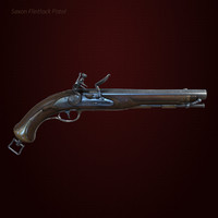 flintlock pistol 3d model
