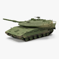 3d model merkava mk iv rigged