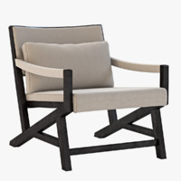 lounge arm chair 3d model