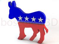 donkey party symbol 3d c4d