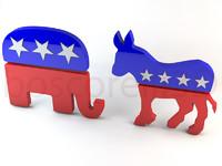 3d model republican democrat