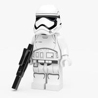 3d lego order stormtrooper figure