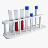 lab test tubes rack 3d max