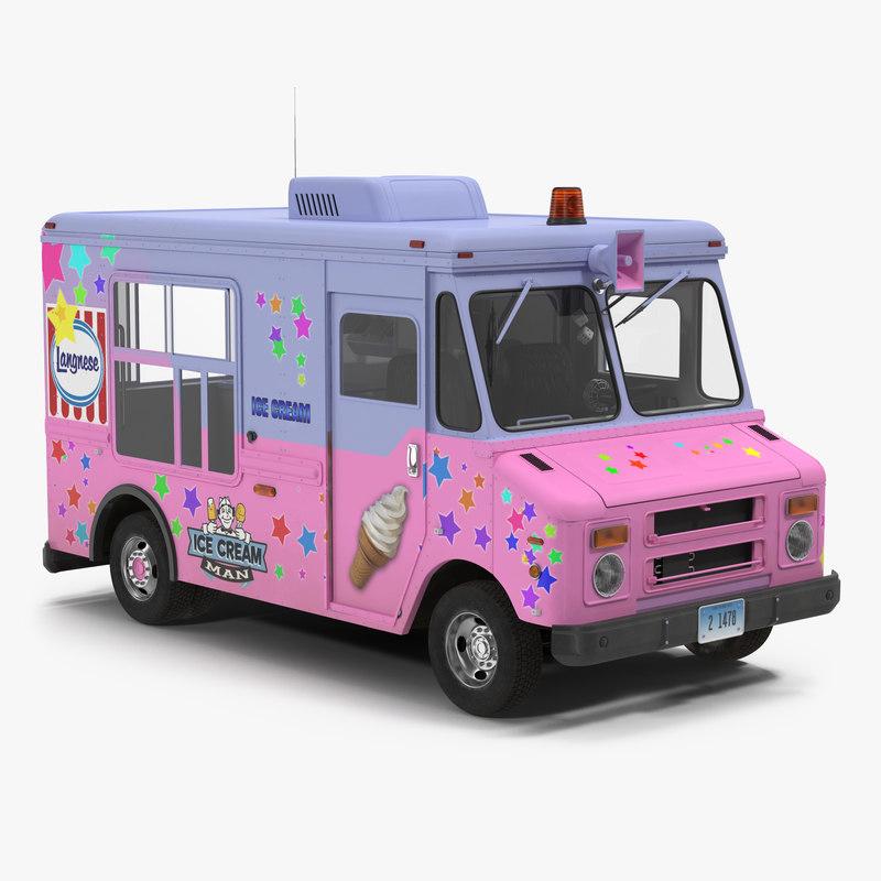Ice Cream Van obj 3d model 001.jpg