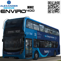 dennis enviro400 mmc royal 3d model