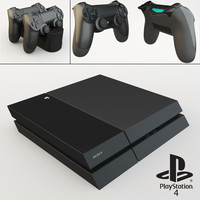 sony playstation 4 3d max