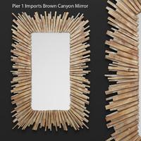mirror pier 1 imports 3d model