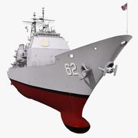 ticonderoga class cruiser chancellorsville 3d max