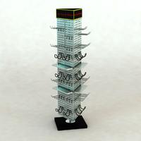 pegboard rack 3d model