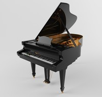 3d 3ds grand piano classic interior