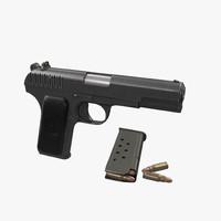 3ds soviet gun pistol tokarev
