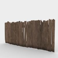 3d wood fence model