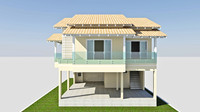 3d model cad home house