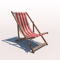 Deck Chair - Red - Weathered