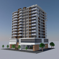 Modern Apartment City Building - HD Cityscape Tile 6