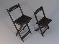 3d wood chair model