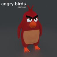 angry birds 3d obj
