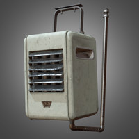 3d model indoor ceiling heater -