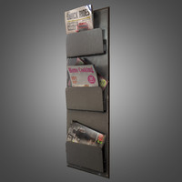 Magazine Rack with Magazines - PBR Game Ready