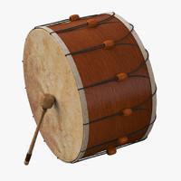 3d turkish drum model