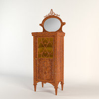 3d antique musical cabinet model