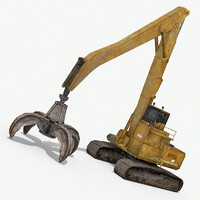 crawler grabbing crane 3ds