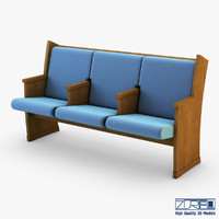 galil chair blue 3d max