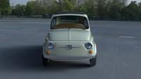 1960 fiat 500d interior 3d obj