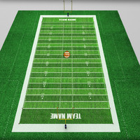 football american stadium field 3d model