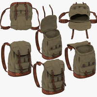 3d 6 poses travel backpack model