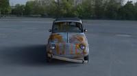 rusty 1957 fiat 500 3d obj