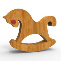 Wooden Toy Horse For Rocking