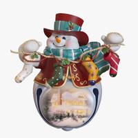 3d model christmas snowman
