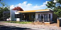 realistic modern villa 3d obj