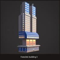 max futuristic sci-fi building