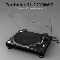 c4d turntable technics