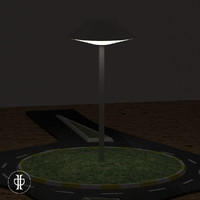 3d 3ds roundabout night lighting
