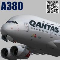 airbus qantas vh-oqh 3d model