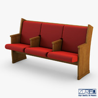 3d galil chair red model
