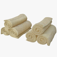3d towels rolled model